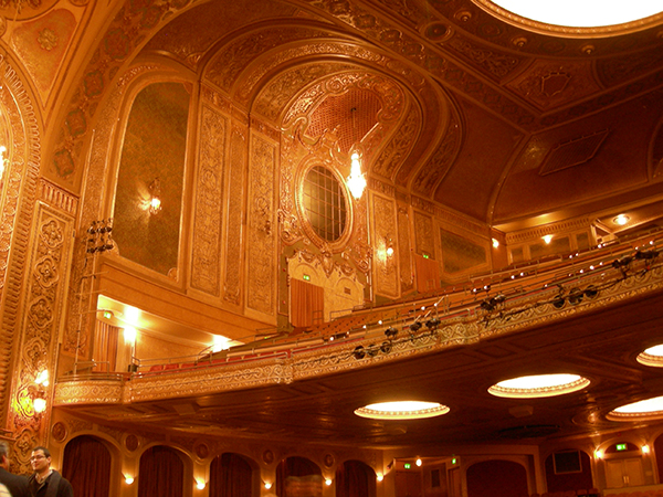 The balcony of Seattle's Paramount Theatre, 2007. Image courtesy of Wikipedia Commons, photograph by Joe Mabel.