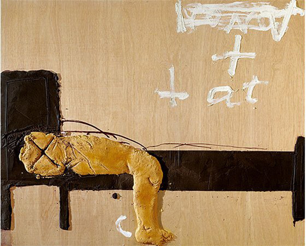 Antoni Tàpies, Lit y cama, mixed media, 2006. Image courtesy of UnDo.Net.