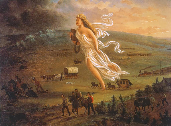 John Gast's American Progress, 1872, oil on canvas. Image courtesy of ARTstor.