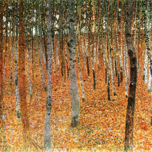 Gustav Klimt, Forest of Birch Trees, oil on canvas, c. 1903. Image courtesy of The Hammock Papers: A Forest of Things.