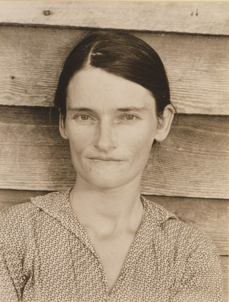Walker Evans, Allie Mae Burroughs, Hale County, Alabama, gelatin silver print, 1936. Image courtesy of Bank of America.