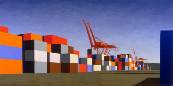 Mary Iverson, T18 Containers, oil on canvas, 2000. Image courtesy of the artist.