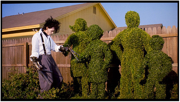 Edward creates topiary versions of his newfound family. Image courtesy of Pix Good.