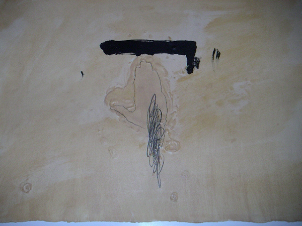 Antoni Tàpies, La Main, etching, 1972. Image courtesy of Denis Bloch Fine Art.