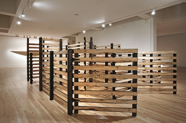 Cris Bruch's Pent, 2016, wood. Image courtesy of the Frye Art Museum. Photography by Mark Woods.